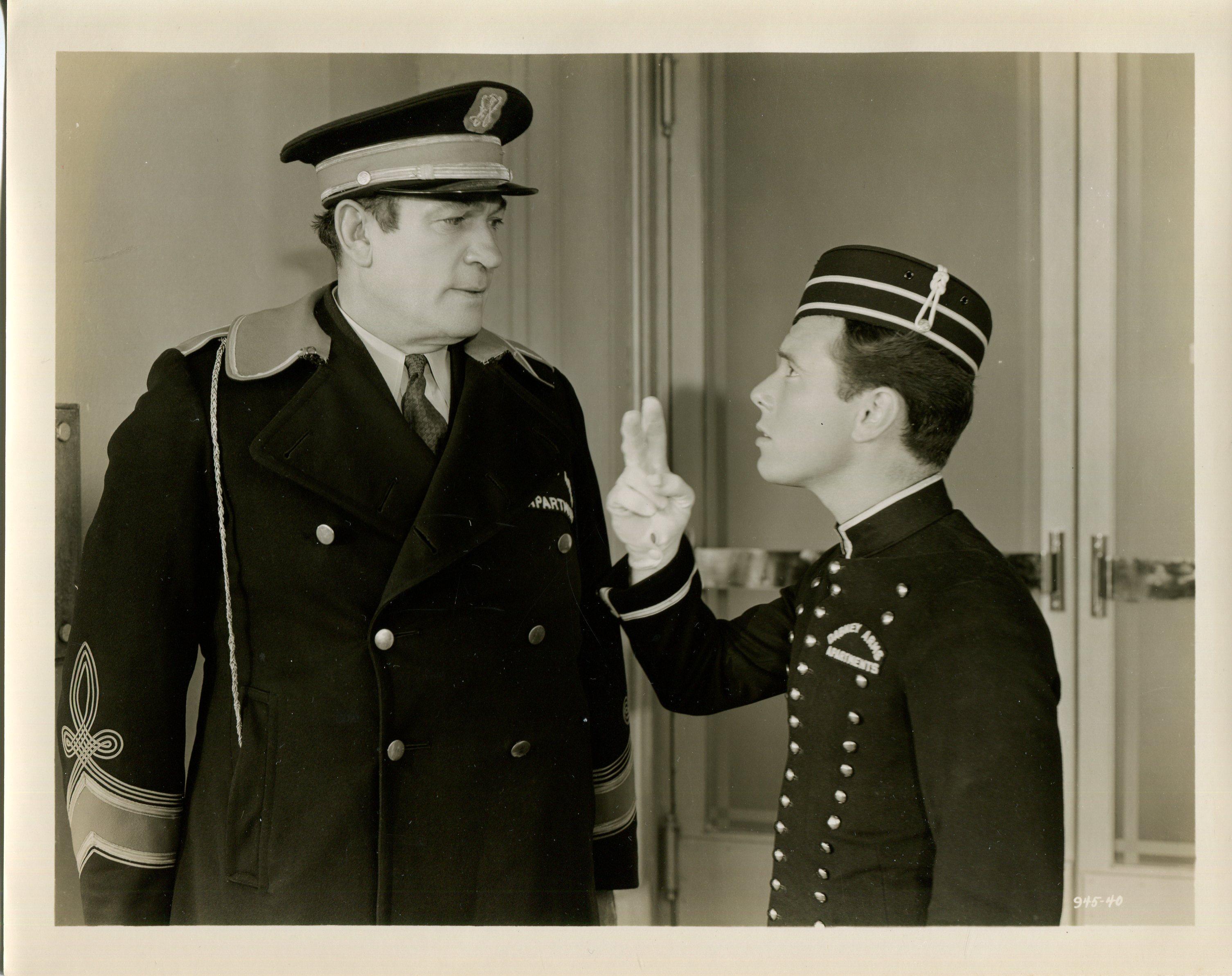Frank Coghlan Jr. and Victor McLaglen in Ex-Champ (1939)
