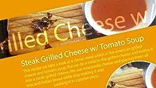 Filete de queso a la parrilla con sopa de tomate
