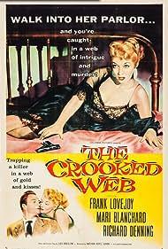 Mari Blanchard and Richard Denning in The Crooked Web (1955)