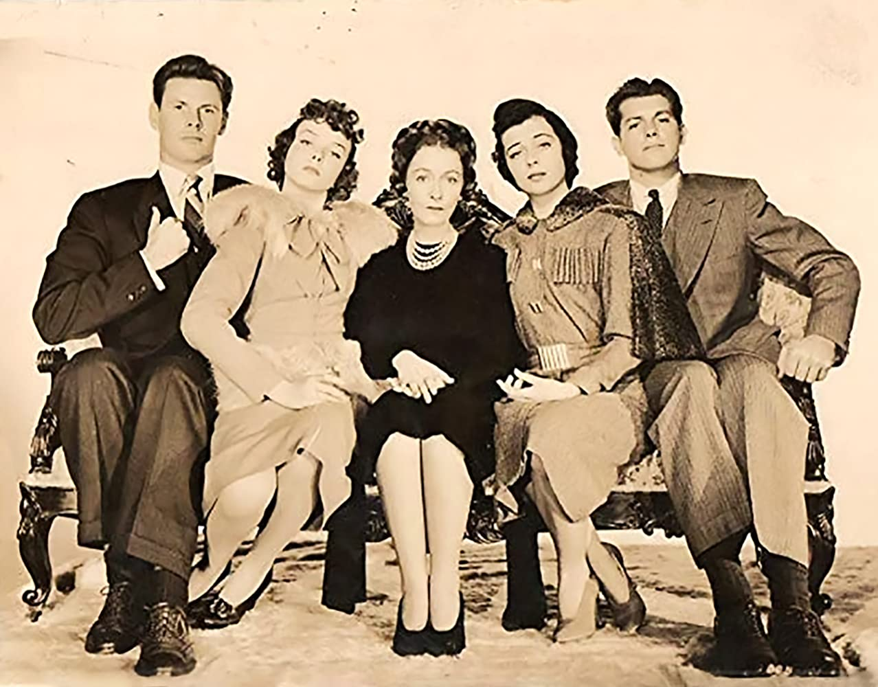 James Brown, Bill Edwards, Dorothy Gish, Diana Lynn, and Gail Russell in Our Hearts Were Young and Gay (1944)