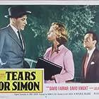 Julia Arnall, David Farrar, and David Knight in Lost (1956)