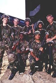 Scott Bairstow, Alex Burns, Steve Burton, Bianca Kajlich, Michael Peña, Vicellous Shannon, and Tammy Townsend in Semper Fi (2001)