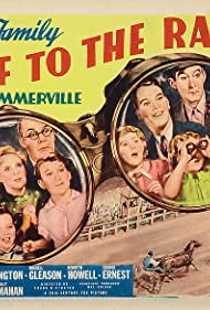 Spring Byington, June Carlson, Shirley Deane, George Ernest, Russell Gleason, Kenneth Howell, Billy Mahan, Jed Prouty, Florence Roberts, and Slim Summerville in Off to the Races (1937)