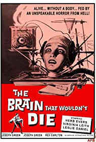 Jason Evers and Virginia Leith in The Brain That Wouldn't Die (1962)