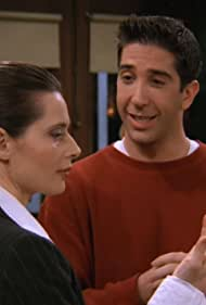 Isabella Rossellini and David Schwimmer in Friends (1994)