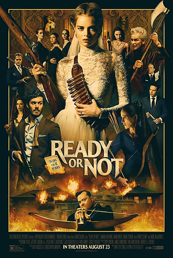 Andie MacDowell, Henry Czerny, Adam Brody, Nicky Guadagni, John Ralston, Elyse Levesque, Melanie Scrofano, Mark O'Brien, Kristian Bruun, Samara Weaving, Daniela Barbosa, Celine Tsai, and Hanneke Talbot in Ready or Not (2019)