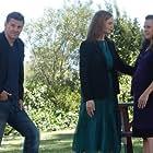 David Boreanaz, Emily Deschanel, and Carla Gallo in Bones (2005)