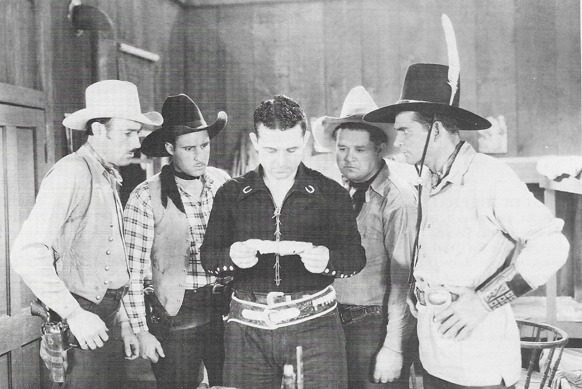 Chuck Baldra, Yakima Canutt, Jack Jones, Jack Kirk, and Reb Russell in Fighting Through (1934)