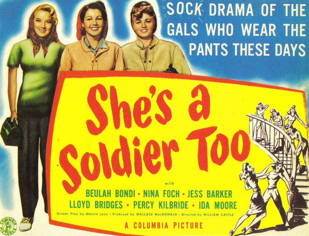 Shelley Winters, Jeanne Bates, and Jeff Donnell in She's a Soldier Too (1944)