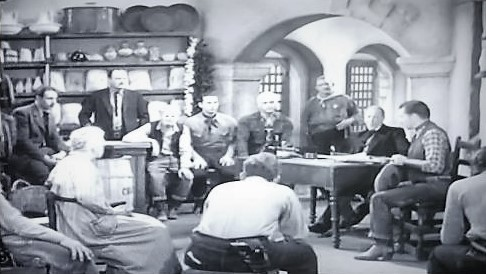 William Boyd, Ed Cassidy, Frank Darien, Robert Fiske, Gordon Hart, Russell Hayden, Gertrude Hoffman, and Carleton Young in Cassidy of Bar 20 (1938)