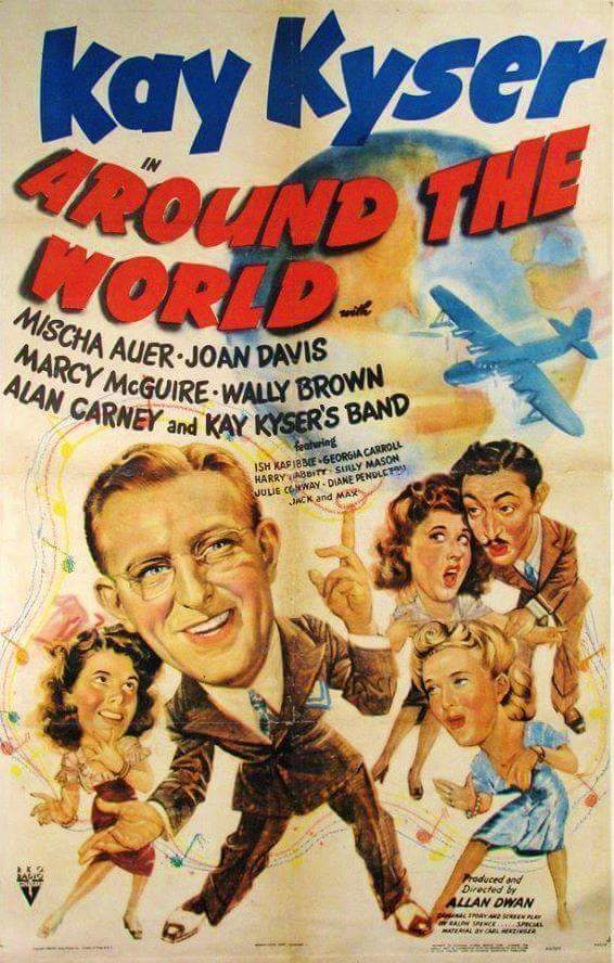 Mischa Auer, Joan Davis, Kay Kyser, and Marcy McGuire in Around the World (1943)