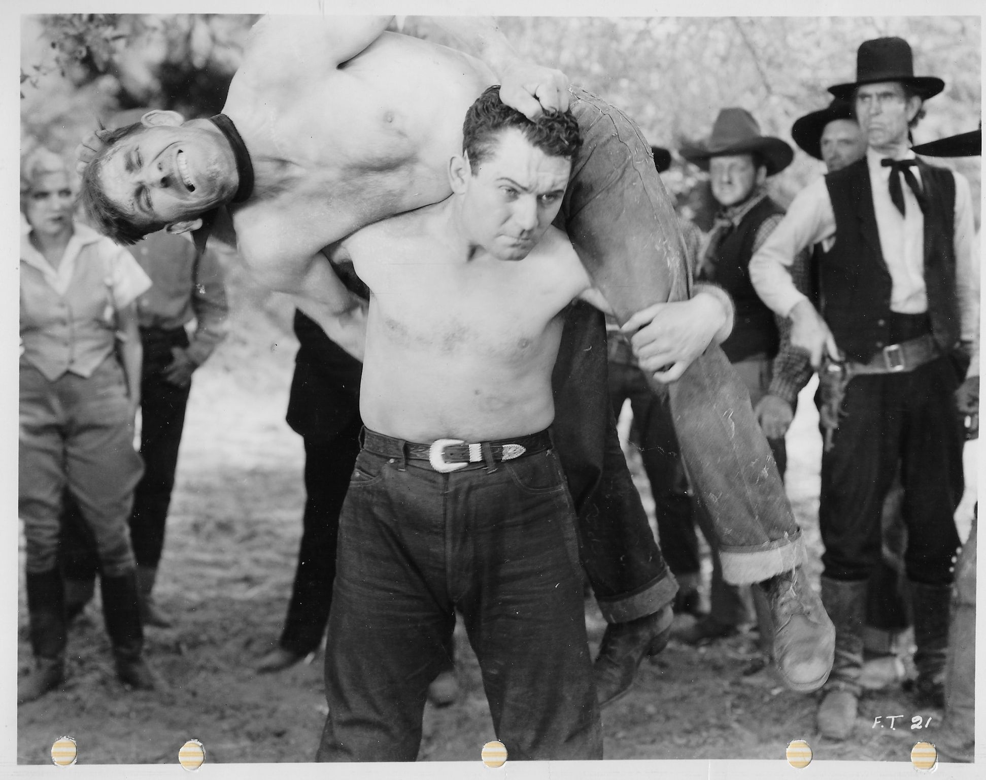 Lucille Lund, Frank McCarroll, Nelson McDowell, Lew Meehan, and Reb Russell in Fighting Through (1934)