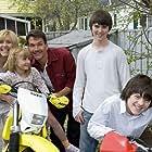 Patrick Swayze, Rachel Hayward, Cameron Bright, Matthew Knight, Amy Schlagel, and Zoe Schlagel in Christmas in Wonderland (2007)
