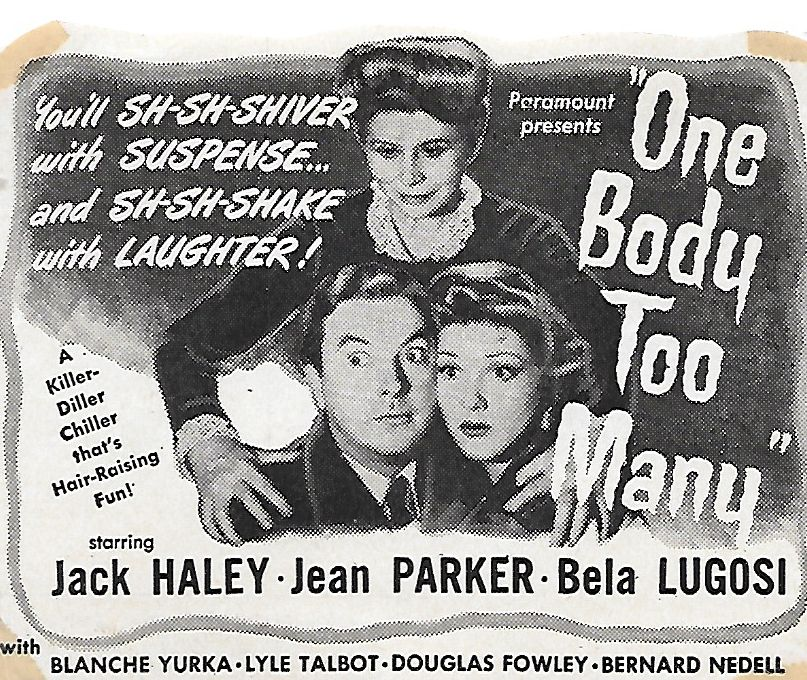 Jack Haley, Jean Parker, and Blanche Yurka in One Body Too Many (1944)