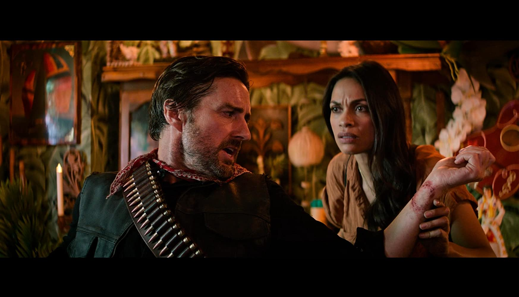 Luke Wilson and Rosario Dawson in Zombieland: Double Tap (2019)