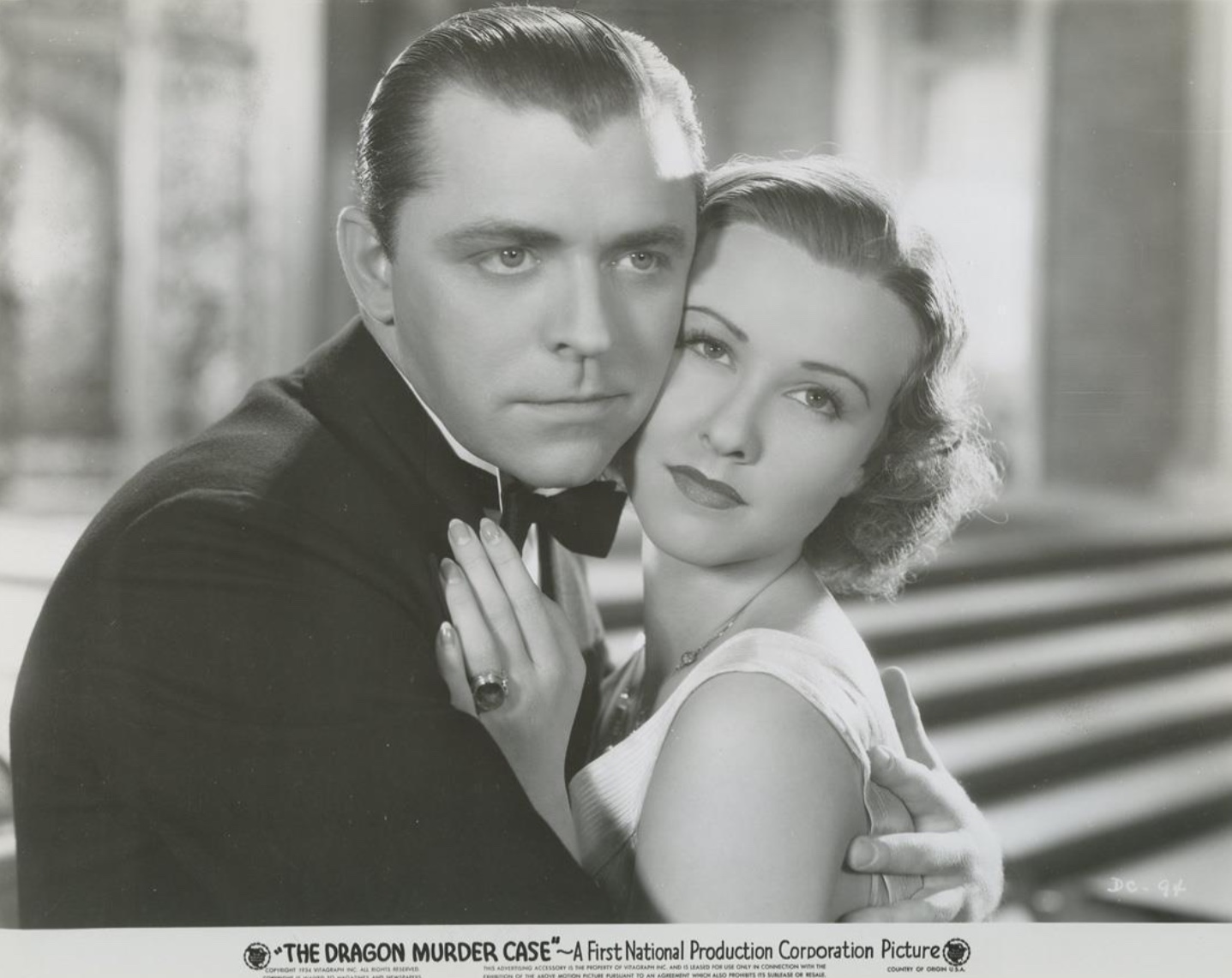 Margaret Lindsay and Lyle Talbot in The Dragon Murder Case (1934)
