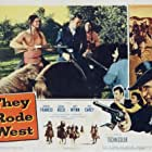 Donna Reed, Philip Carey, Frank DeKova, Robert Francis, and Eugene Iglesias in They Rode West (1954)