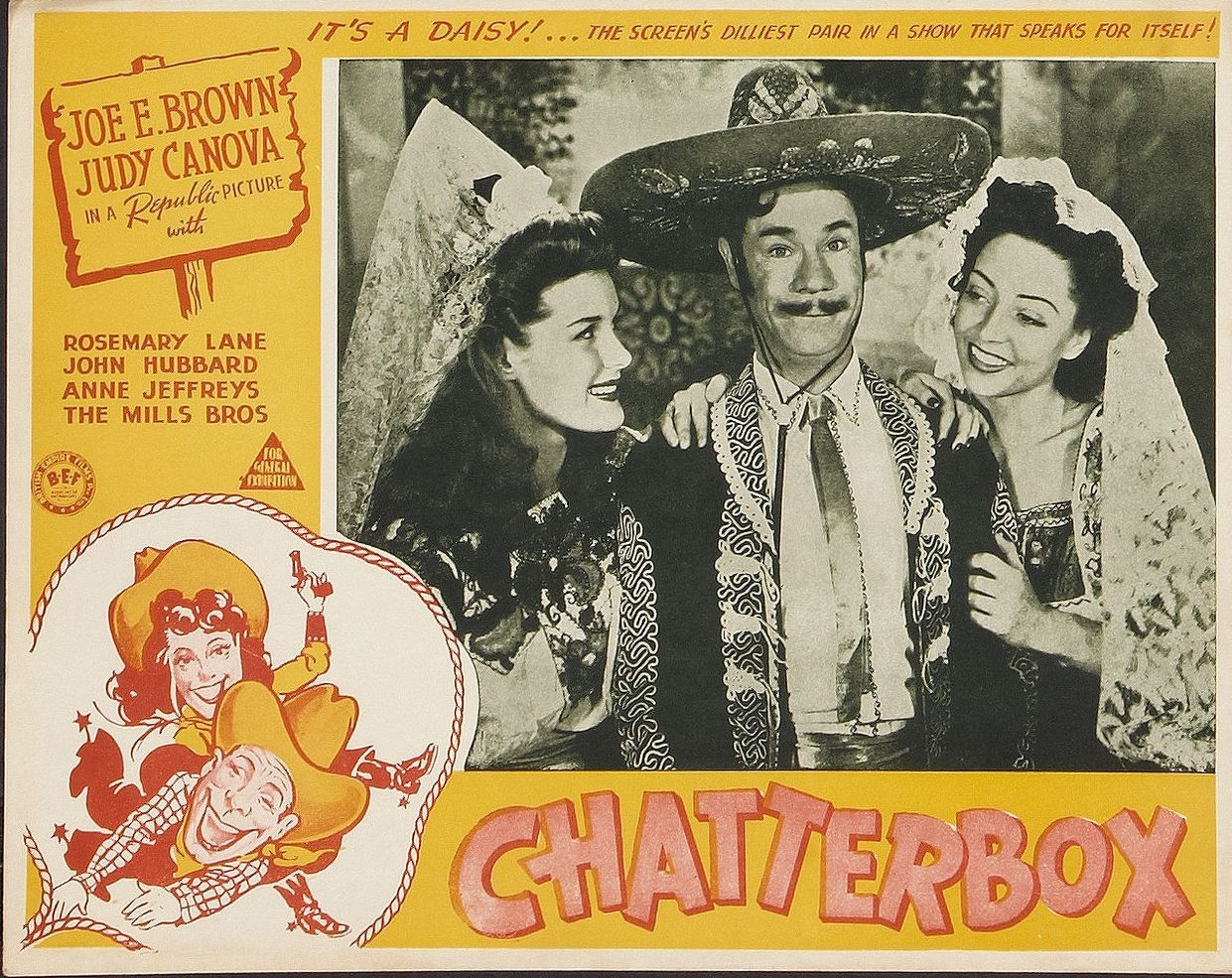 Dorothy Andre, Joe E. Brown, and Marie Windsor in Chatterbox (1943)