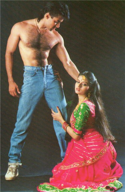 Salman Khan and Bhagyashree in Maine Pyar Kiya (1989)