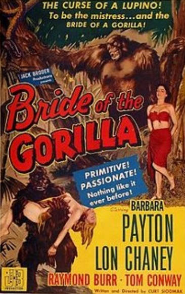 Barbara Payton in Bride of the Gorilla (1951)