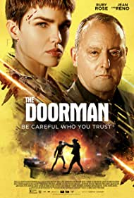 Jean Reno and Ruby Rose in The Doorman (2020)