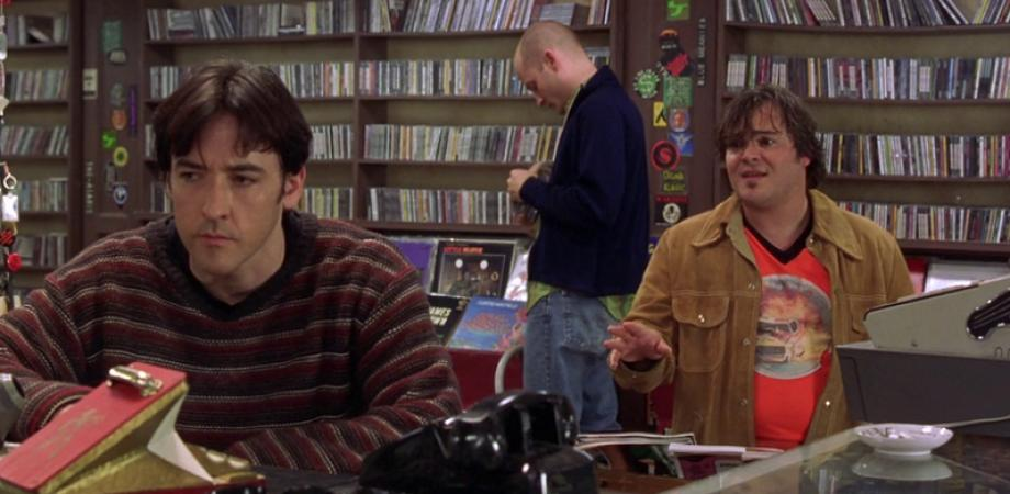 John Cusack, Jack Black, and Todd Louiso in High Fidelity (2000)