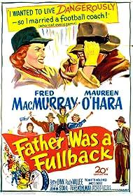 Maureen O'Hara, Natalie Wood, Betty Lynn, and Fred MacMurray in Father Was a Fullback (1949)