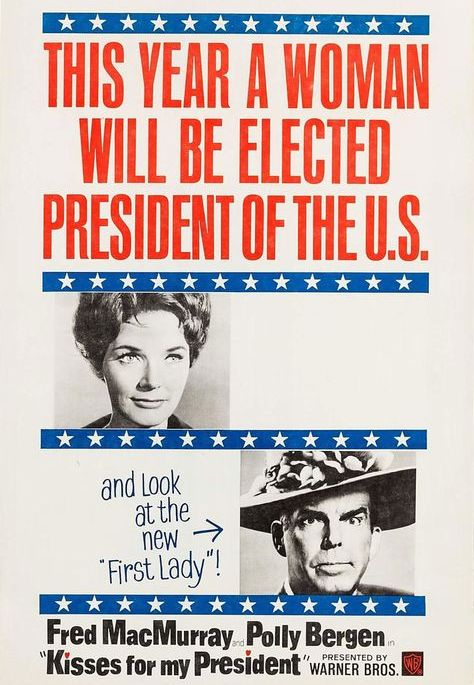 Polly Bergen and Fred MacMurray in Kisses for My President (1964)