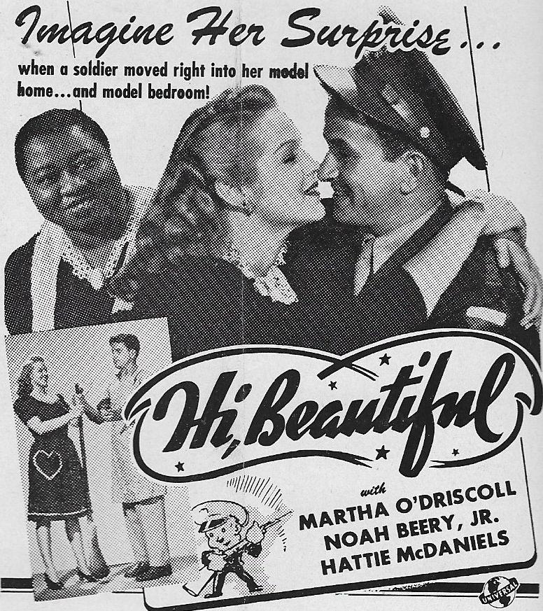 Noah Beery Jr., Hattie McDaniel, and Martha O'Driscoll in Hi, Beautiful (1944)