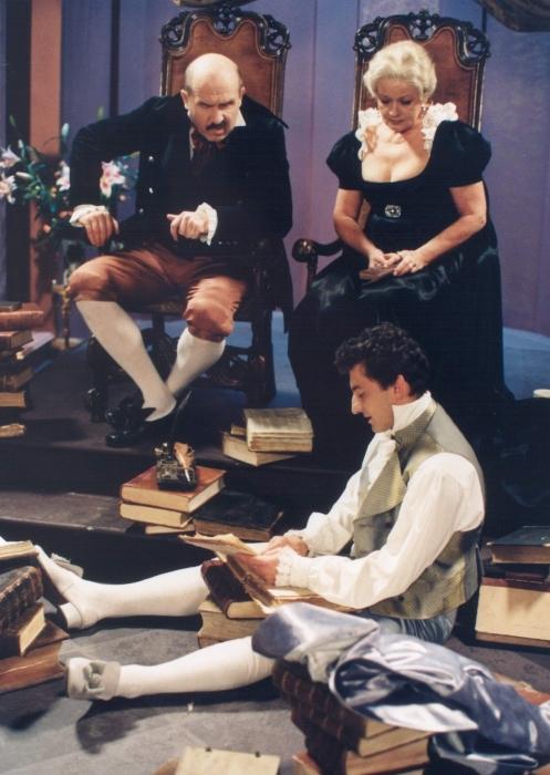 Jana Brejchová, Petr Nározný, and Ondrej Vetchý in Carodejné námluvy (1997)