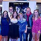 Joss McWilliam, Darwin Brooks, Ashley Pardey, Linda Millar, Nicholas Hamilton, Jessica Magro, and Maeve McKenna at an event for Long Shadows (2014)