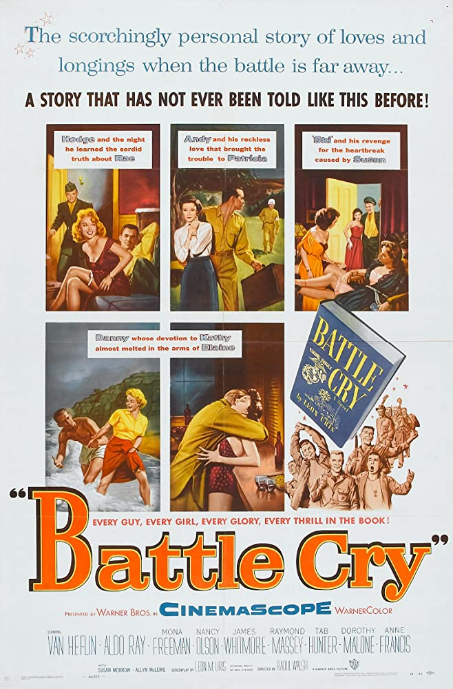 Tab Hunter, Anne Francis, Dorothy Malone, Nancy Olson, and Aldo Ray in Battle Cry (1955)