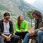 Imtiaz Ali, Kartik Aaryan, and Sara Ali Khan in Love Aaj Kal (2020)