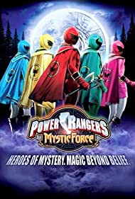 Firass Dirani, Richard Brancatisano, Nic Sampson, Angie Diaz, and Melanie Vallejo in Power Rangers Mystic Force (2006)