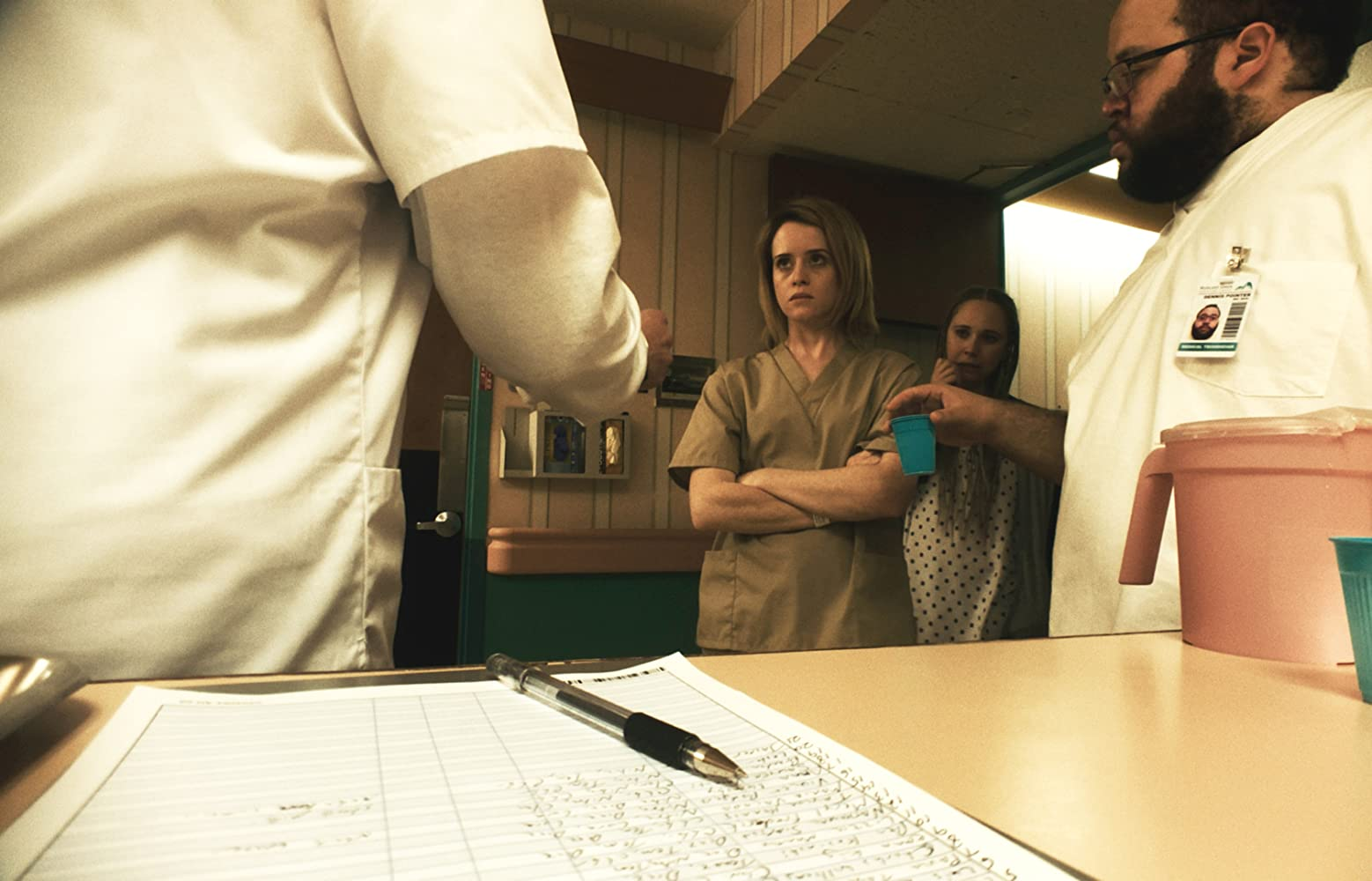 Juno Temple, Claire Foy, and Zach Cherry in Unsane (2018)