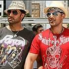 Abhishek Bachchan and John Abraham in Dostana (2008)