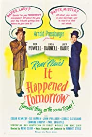 Linda Darnell and Dick Powell in It Happened Tomorrow (1944)