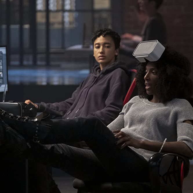 Zainab Johnson and Andy Allo in Upload (2020)