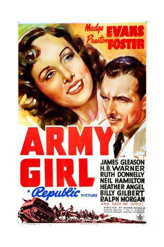 Madge Evans and Preston Foster in Army Girl (1938)