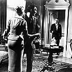 Anita Ekberg, Jack Palance, and Nigel Patrick in The Man Inside (1958)