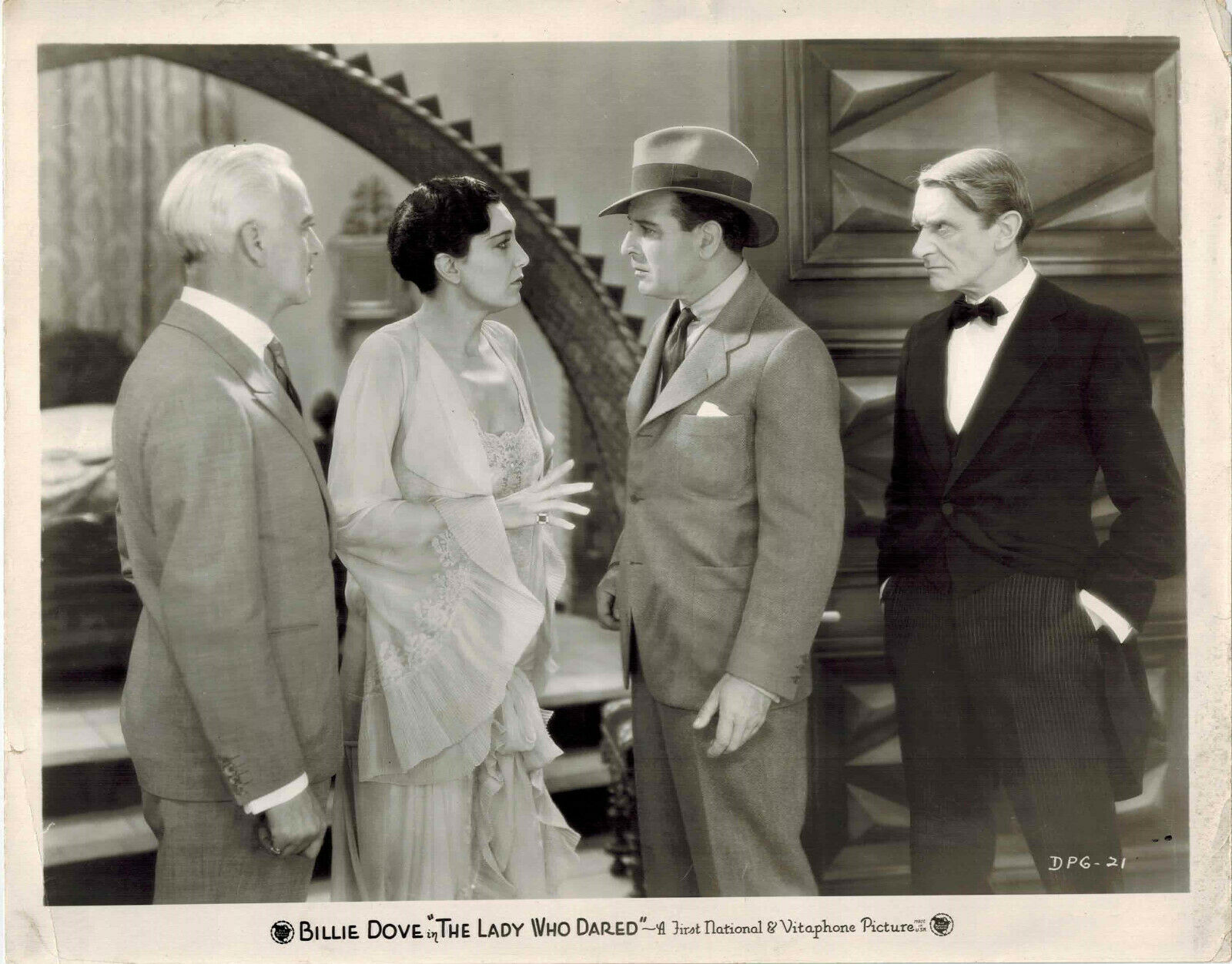 Cosmo Kyrle Bellew, Ivan F. Simpson, Conway Tearle, and Judith Vosselli in The Lady Who Dared (1931)