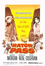 Steve Cochran, Dorothy Hart, Dennis Morgan, and Patricia Neal in Raton Pass (1951)