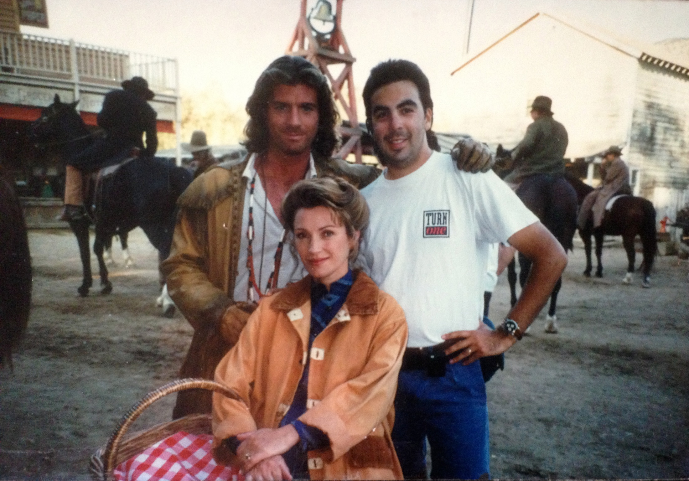 on the set of Dr. Quinn, Medicine Woman