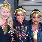 Kyla-Drew with dance Castmates on 90210.