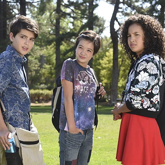 Joshua Rush, Peyton Elizabeth Lee, and Sofia Wylie in Andi Mack (2017)