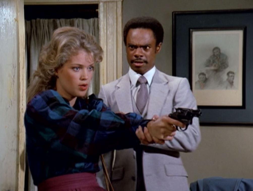 Melody Anderson and Glynn Turman in Manimal (1983)