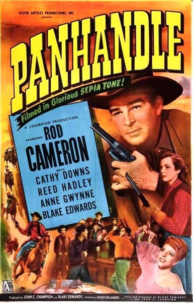 Rod Cameron, Cathy Downs, Anne Gwynne, and Reed Hadley in Panhandle (1948)