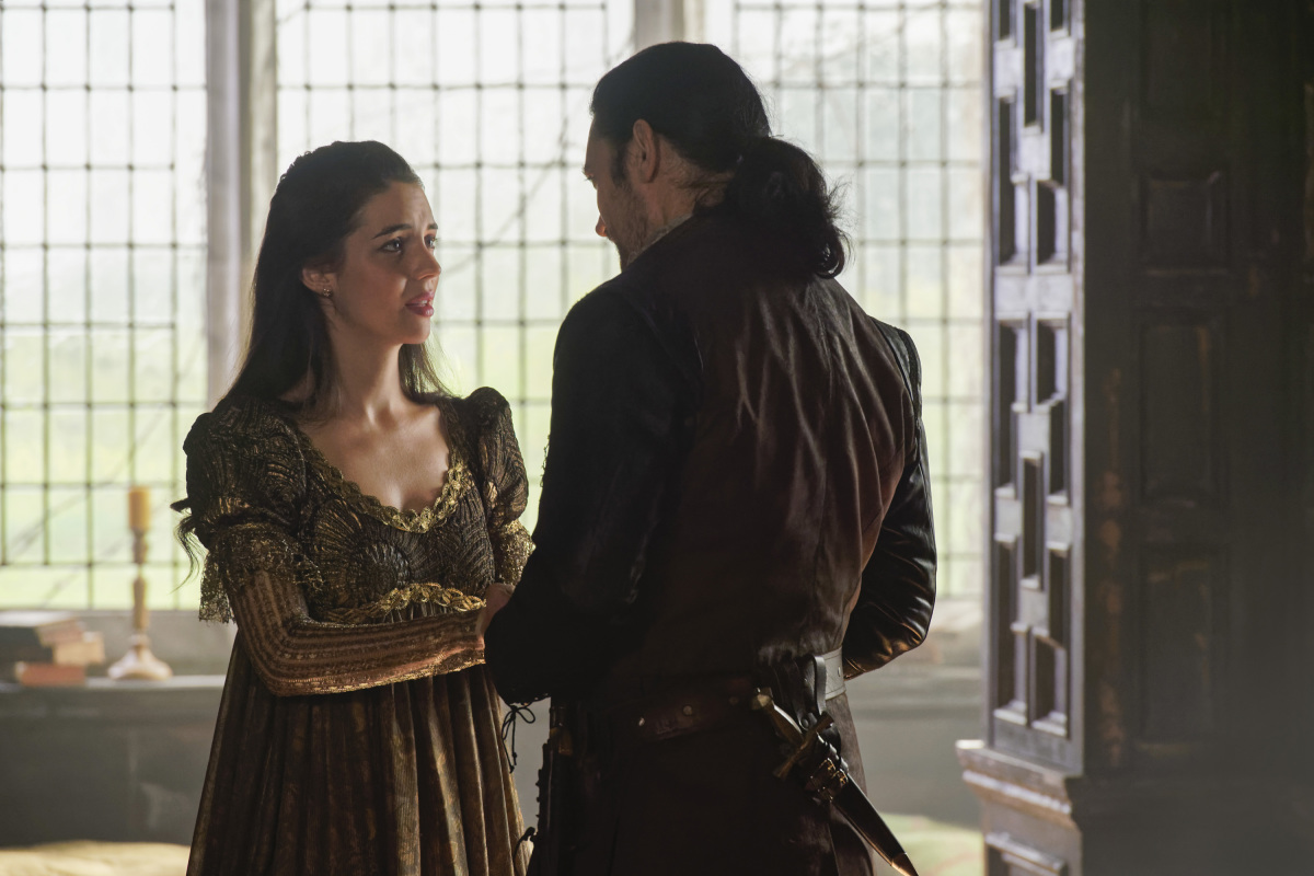 Adam Croasdell and Adelaide Kane in Reign (2013)