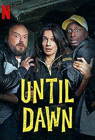 Alban Ivanov, Ahmed Sylla, and Ornella Fleury in Until Dawn (2020)