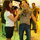Cliff Bleszinski and Chelsey McKrill at an event for GameZombie TV (2007)